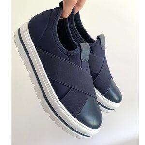 "MAUD FRIZON ""Criss Cross"" Platform Sneakers Size 8"